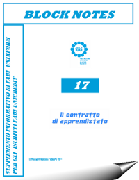 Block Notes n° 17 – Il Contratto di Apprendistato