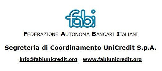 Comunicato Fabi UniCredit S.p.A. in merito alla situazione straordinaria dovuta al maltempo