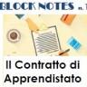 Block Notes n. 1 - Gennaio 2018 - Apprendistato - Evidenza